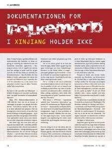 Magasinet Danmark Kina uddrag folkemord i xinjiang